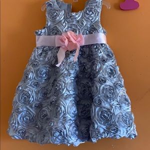 Rare Editions 24m girls silver and pink dress